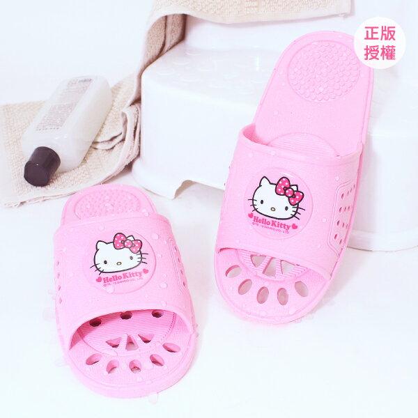 HELLO KITTY 室內浴室拖鞋-可愛粉 塑膠拖鞋 Sanrio 三麗鷗 [蕾寶]