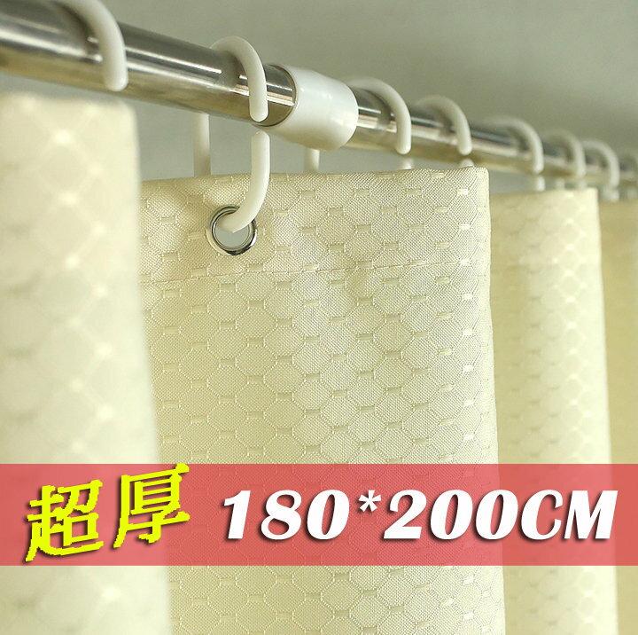 《喨晶晶生活工坊》正品 獨家五星級酒店專用 超厚防水防黴加厚滌綸布浴簾 180*200、185g/平方米