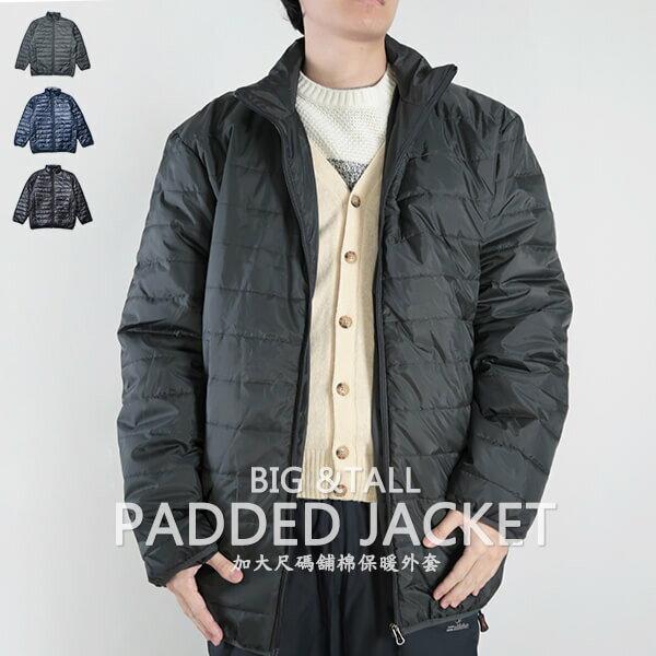 加大尺碼舖棉保暖外套 超輕量夾克外套 騎士外套 擋風外套 立領休閒外套 鋪棉外套 藍色外套 黑色外套 WARM PADDED JACKET (321-A831-08)深藍色、(321-A831-21)黑色、(321-A831-22)灰色 6L 7L 8L (胸圍58~62英吋) [實體店面保障] sun-e 0