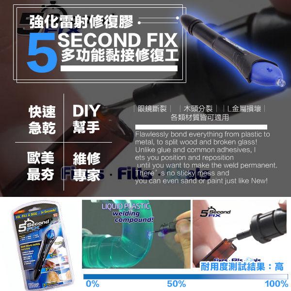 超神接黏UV光線筆 5second fit 多功能黏接修復工 防水 承重力強 雙筆頭光敏液膠DIY模型 A20401 【H00341】