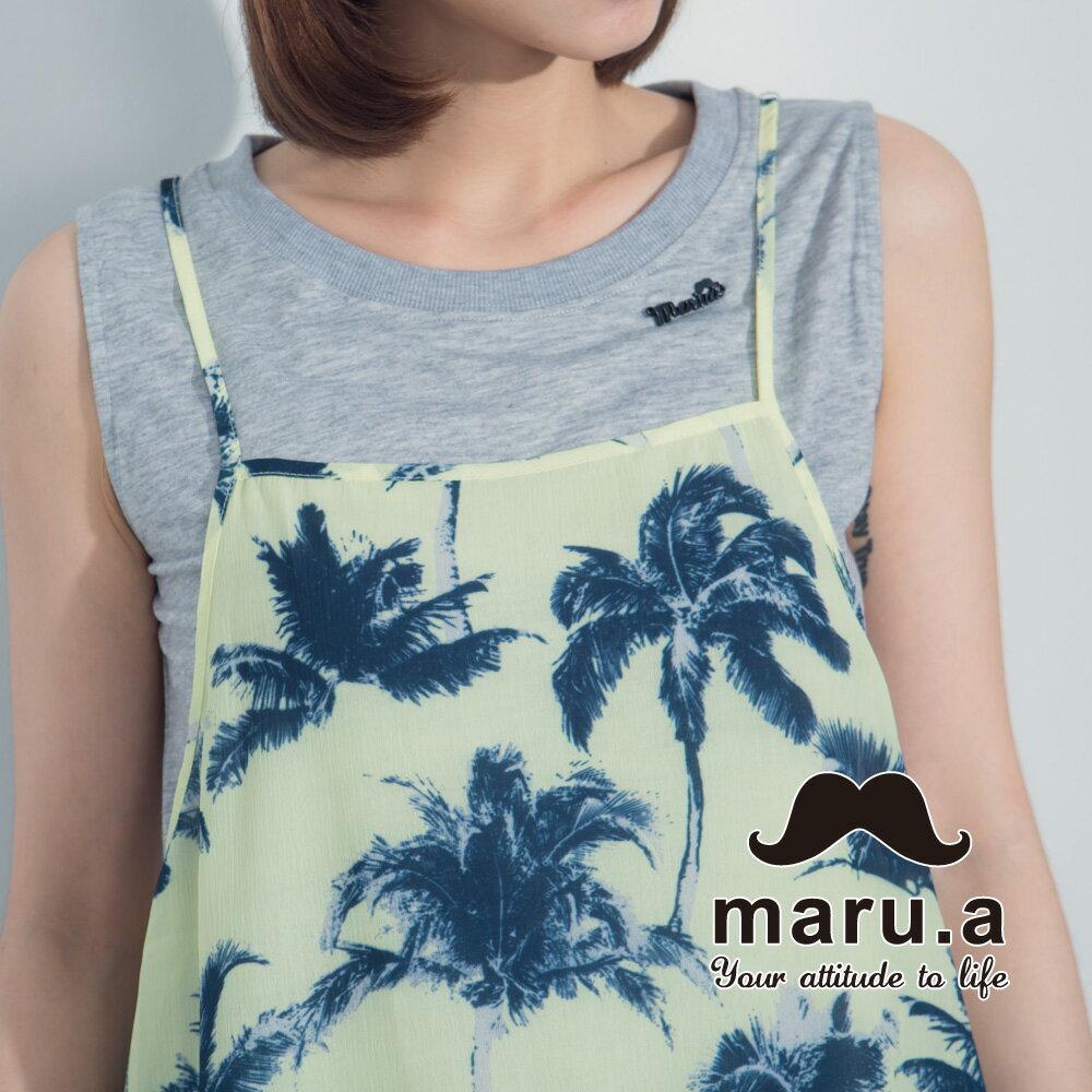 【maru.a】夏日椰子樹兩件式背心7323121 1