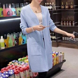 韓風衣舍:針織中長版外套韓風衣舍小中大尺碼現貨+預購