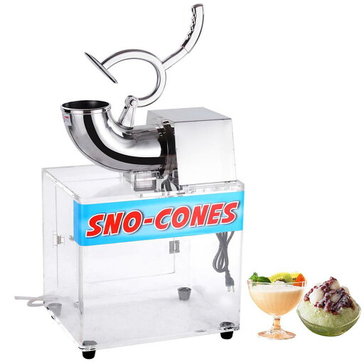 Commercial 440lbs/hr Electric Ice Shaver Machine Snow Cone Maker Shaved Crusher Shaving