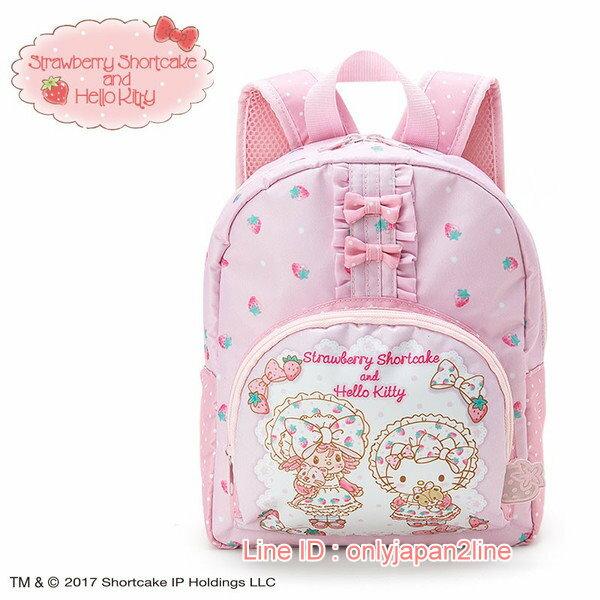 【真愛日本】4901610519905 聯名限定SSCKT後背包-草莓  三麗鷗Hello Kitty凱蒂貓 後背包 背包 書包