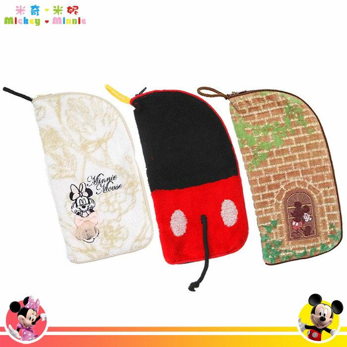 米奇 米老鼠 Mickey 米妮 Minnie 迪士尼 丸真  毛巾材質收納包 收納袋 毛巾袋 日本進口正版 013000