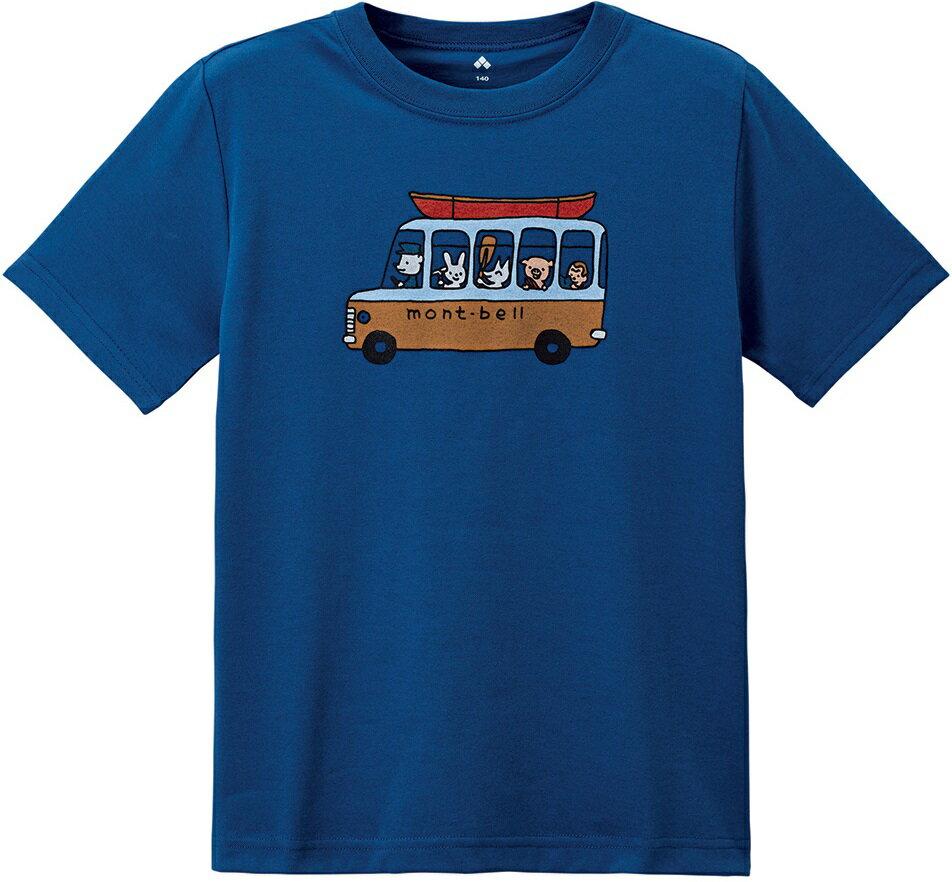 Mont-Bell 兒童排汗短T 幼童排汗衣 Wickron 1114210 1114211 RBL巴士藍