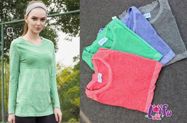 來福:來福T恤,B324運動T恤八.九分袖彩度跑步健身運動上衣正品,售價499元