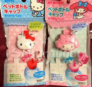 日本 三麗鷗 Kitty 美樂蒂 凱蒂貓 寶特瓶蓋 造型瓶蓋 櫻花寶寶