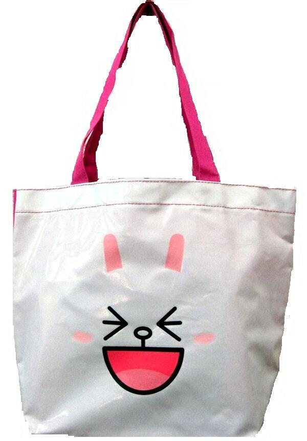 【禾宜精品】正版授權 Line Friends 兔兔 手提袋 造型萬用袋 LI-5364-B [生活百貨]
