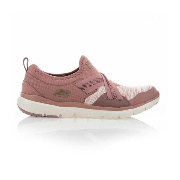 【SKECHERS】FLEX APPEAL 3.0 運動鞋 休閒鞋 鬆緊帶 藕粉 女鞋-13073MVE