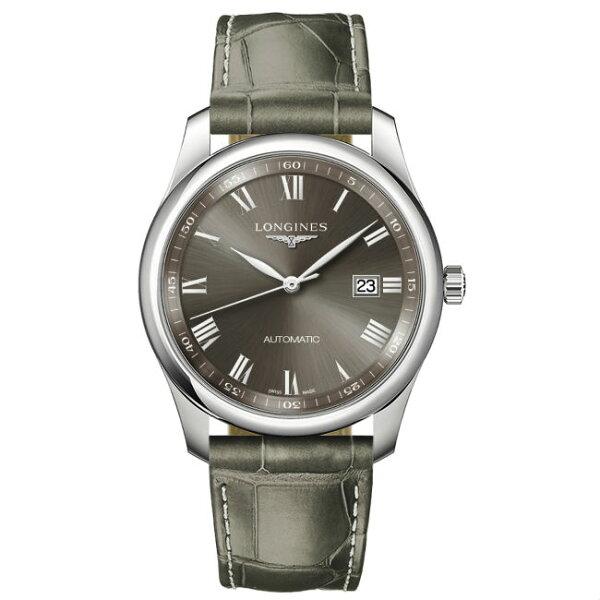 LONGINES浪琴表L27934713巨擘系列羅馬多功能腕錶灰面40mm