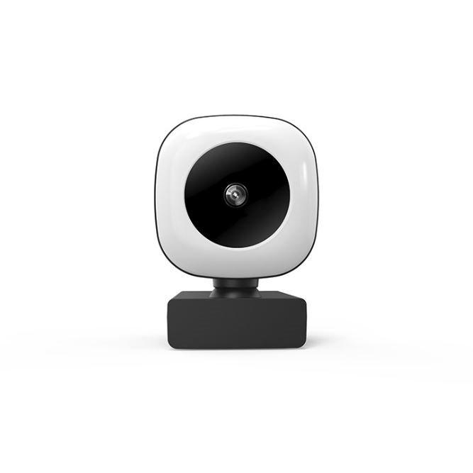 【Love Shop】電腦攝影機 2k版 USB外接美顏補光燈 上課視訊/遠端教學/網路會議攝影機