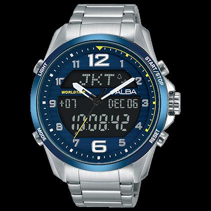 ALBAN021-X004B(AZ4025X1)W兩個世界限量腕錶44mm