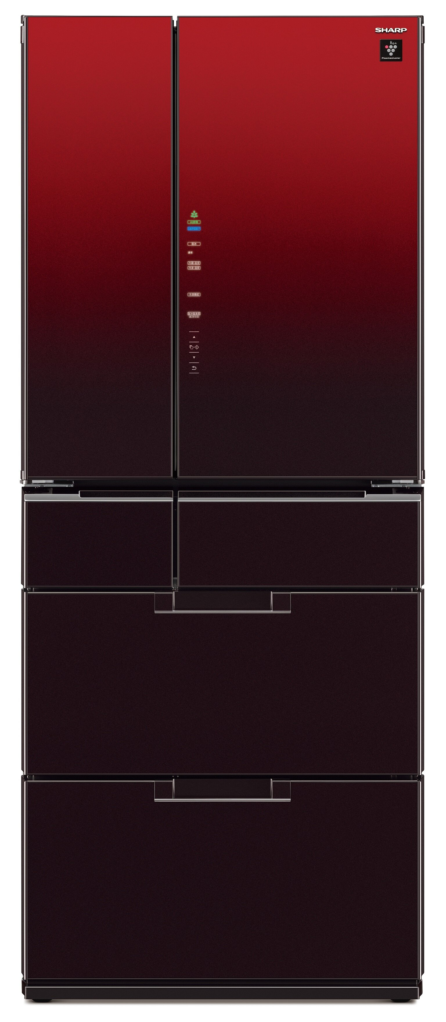SHARP 夏普 SJ-GF60BT-R (星鑽紅) 變頻六門對開冰箱 (601L) ~日本製~【零利率】※熱線07-7428010