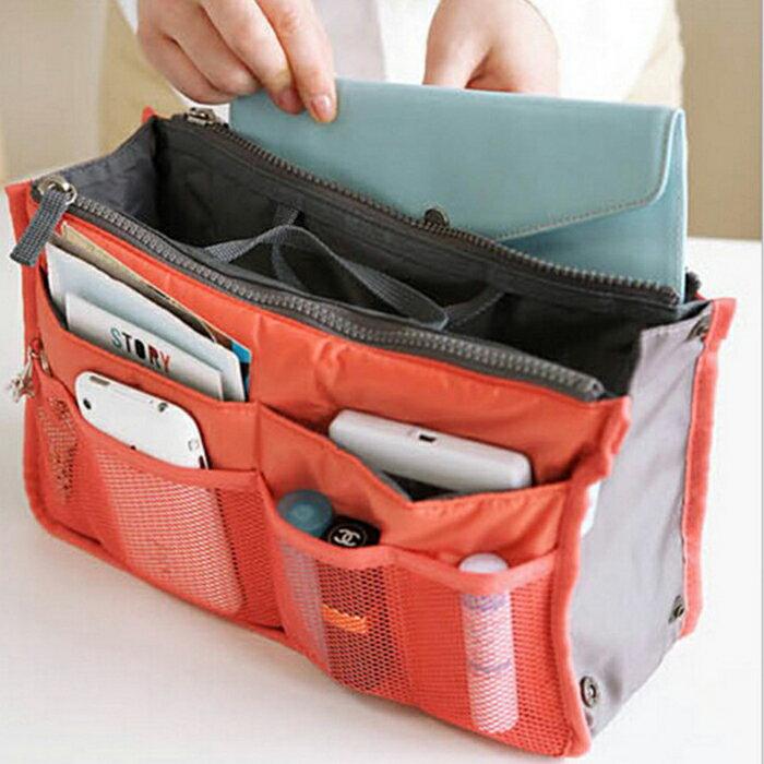 糖衣子輕鬆購【DZ0076】韓版手提多功能雙拉鍊化妝包洗漱用品整理袋收納包