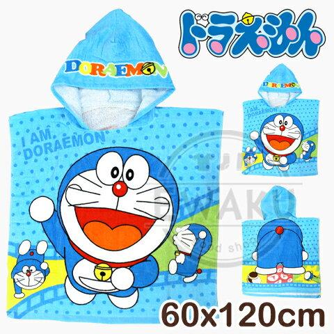 【esoxshop】Doraemon卡通圖案童巾100%棉哆啦a夢連帽浴巾好家庭
