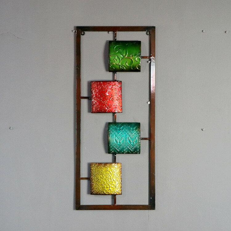 巴洛克復古歐花方塊拼接壁飾 后現代簡約風格墻飾 家居裝飾品孤品1入