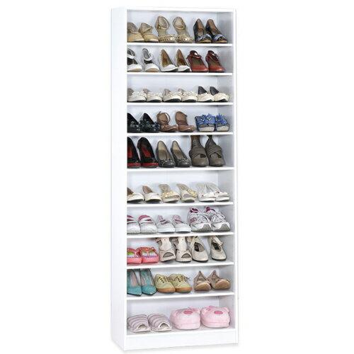 《Hopma》新時尚白十層鞋櫃