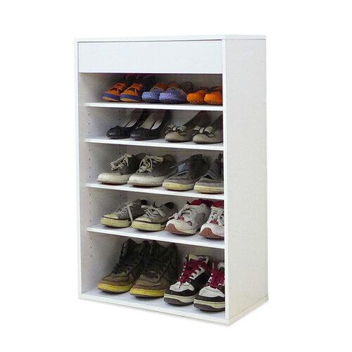 《Hopma》時尚白五格一抽鞋櫃