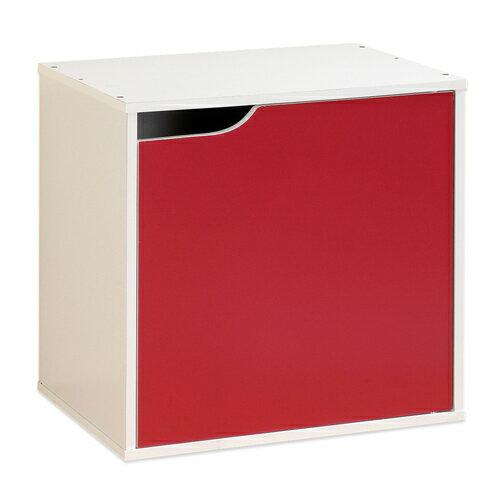 《Hopma》白配桃紅單門收納櫃