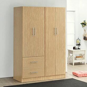 《Hopma》白橡木色四門二抽衣櫃
