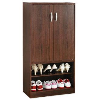《Hopma》胡桃雙門六格鞋櫃