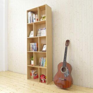 《Hopma》白橡木色多功能五層書櫃