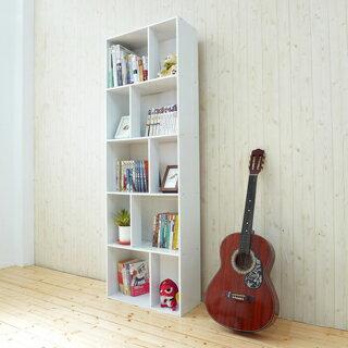 《Hopma》時尚白多功能五層書櫃