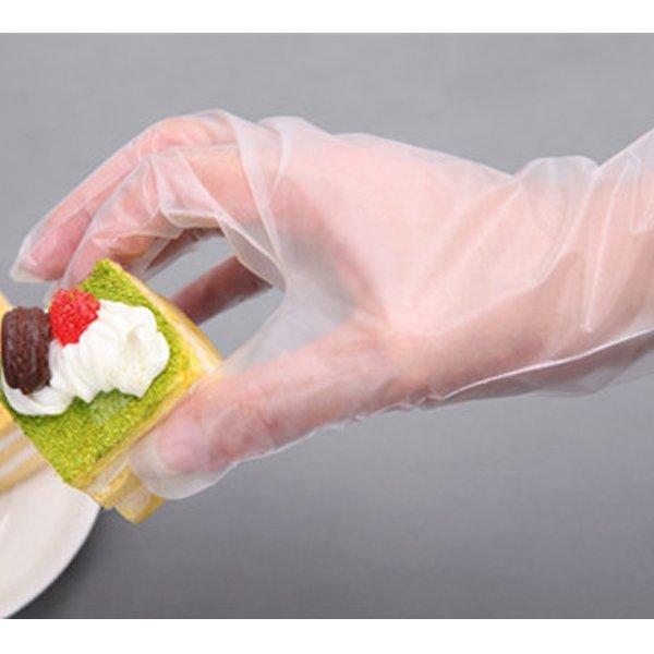 BO雜貨【SV9506】餐飲食品級一次性手套 透明手套 衛生手套 美容家務清潔衛生手套 50入