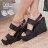 ★399免運★格子舖*【KP2738】MIT台灣製 韓國街頭實搭時尚新款 顯修長增高楔型涼鞋 3色 0
