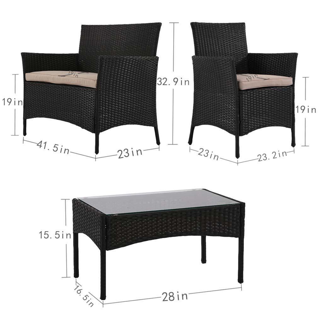 Delicieux New Patio Wicker Furniture Outdoor 4pc Rattan Sofa Garden Conversation Set