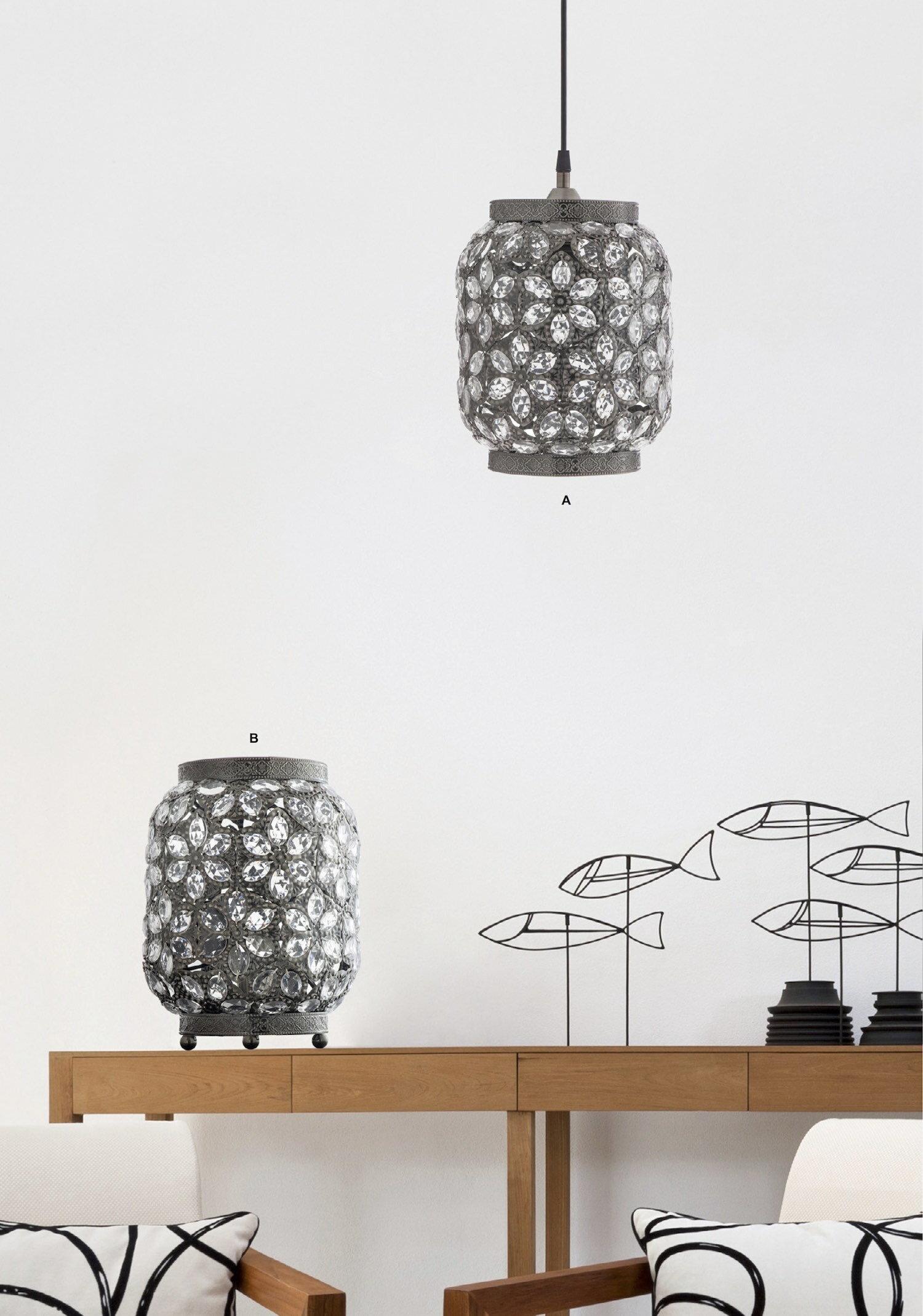 青古銅花瓣紋吊燈-BNL00071 8
