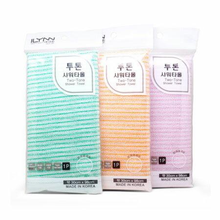 韓國 ILYNN 搓澡巾 1入 (顏色隨機) 去角質 沐浴巾 洗澡巾 搓背 沐浴 洗澡【B064257】