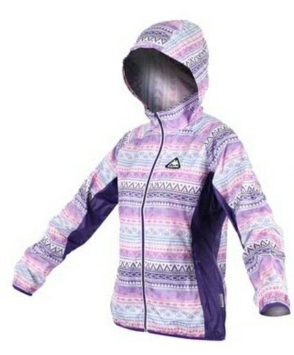 ^~陽光樂活^~KAPPA 女款 女輕量風衣外套 防風 連帽 格紋 紫 粉紅 FC52~C