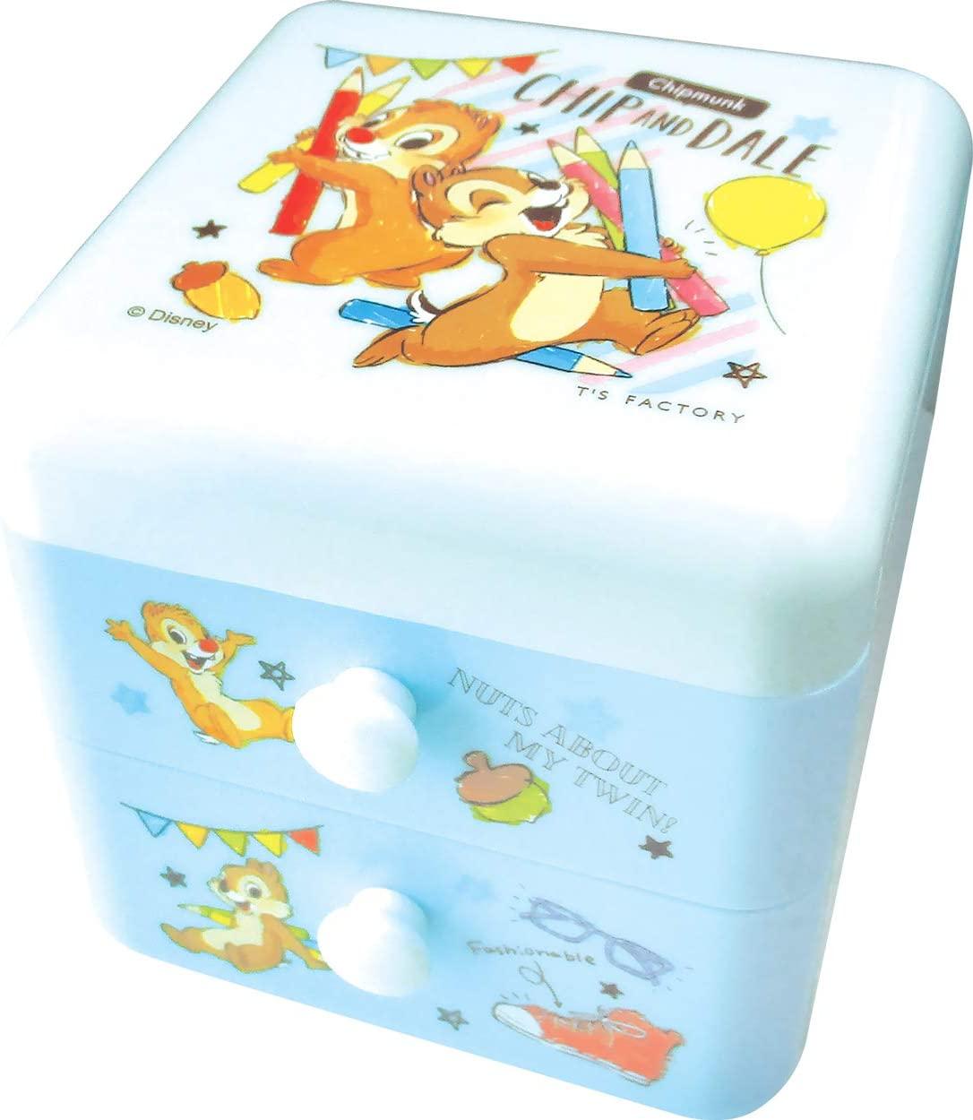 奇奇蒂蒂Chip 'n' Dale雙層抽屜櫃,置物盒/收納盒/抽屜收納盒/筆筒/桌上收納盒,X射線【C107117】