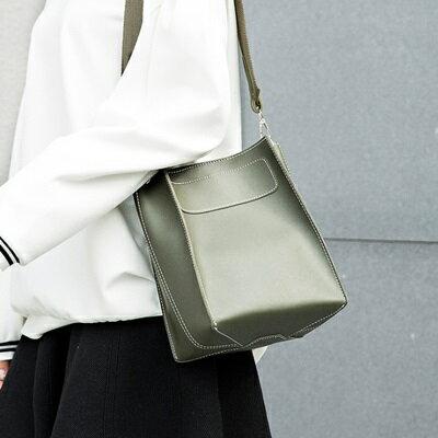 肩背包水桶側背包-時尚簡約純色子母包女包包5色73sb29【獨家進口】【米蘭精品】