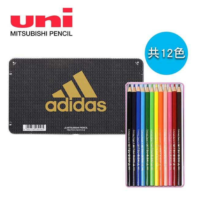 【日本正版】愛迪達 日本製 12色 色鉛筆組 三菱鉛筆 Adidas x Uni - 230565