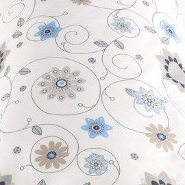 【德國 Theraline 哺乳育嬰月亮枕套 新款上市180公分】舒適型妊娠及育嬰枕頭套 - 藍色花朵【紫貝殼】