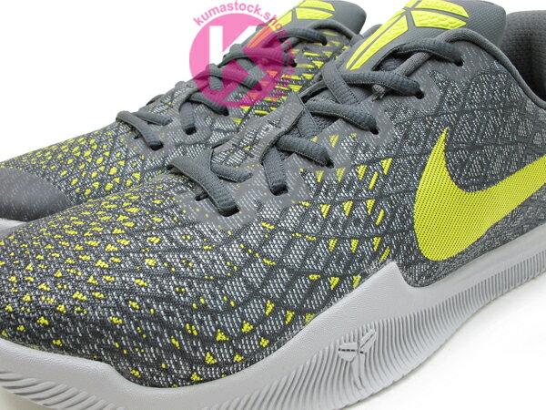 2017 最新款 Kobe Bryant 代言子系列 中價位籃球鞋 NIKE MAMBA INSTINCT EP 低筒 灰芥末黃 HYPERFUSE 透氣鞋面 緩震鞋墊 籃球鞋 湖人 KB MENTALITY 後繼款 (884445-003) 0117 2