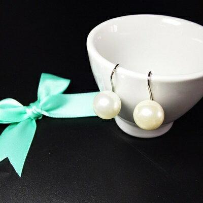 ~925純銀耳環珍珠耳飾~優雅大方S型珍珠生日情人節 女飾品73ia82~ ~~米蘭 ~