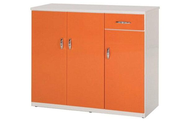 【石川家居】864-05(桔白色)鞋櫃(CT-314)#訂製預購款式#環保塑鋼P無毒防霉易清潔