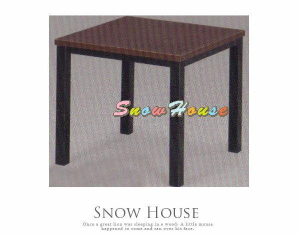 ╭☆雪之屋居家生活館☆╯A389-06 通用烤黑腳小茶几/餐桌/茶桌/咖啡桌/置物桌*鐵刀木色