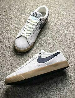 NikeBlazerSbGT灰白情侶款
