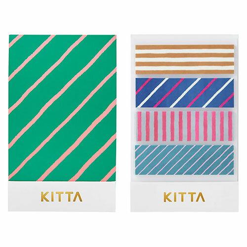【日本KITTA】隨身攜帶和紙膠帶KIT002線條款1本