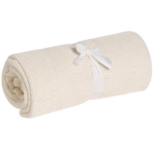 【淘氣寶寶】奇哥 mothercare 中大床棉毯/洞洞毯120*155cm-米