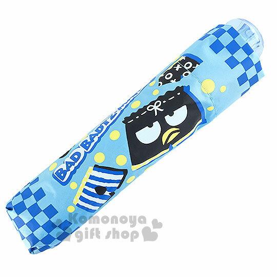〔小禮堂〕酷企鵝 折疊雨陽傘《藍.大臉.四角褲.點點》抗UV