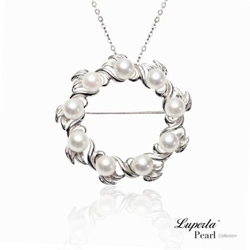 大東山珠寶巴黎圓舞曲頂級日本akoya海水珍珠項鍊胸針兩用款