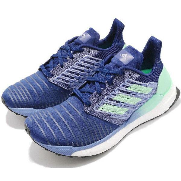【ADIDAS】SOLAR BOOST W 慢跑鞋 運動鞋 藍 綠 女鞋 -BB6602
