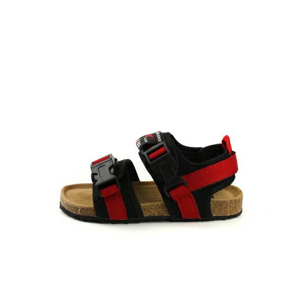 小男生鞋 涼鞋 魔鬼氈 紅 / 黑 童鞋 RR34B-RD no006 5