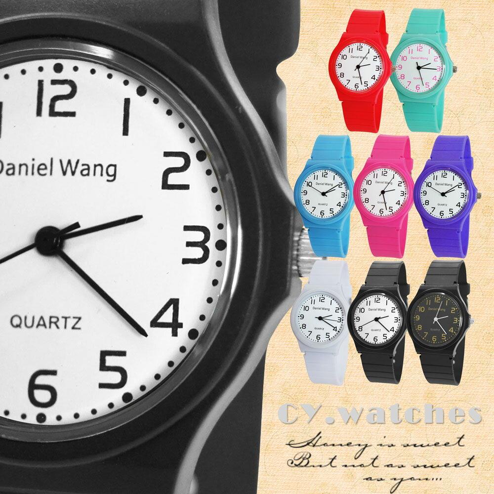 Daniel Wang 4118-日系 馬卡龍輕薄數字學生錶 1